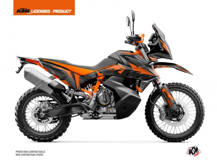 KIT DÉCO  DELTA   MOTO   KTM   ADVENTURE 790 R   NOIR-ORANGE