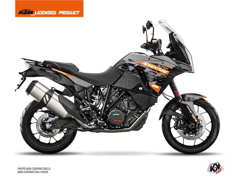 KIT DÉCO  GEAR MOTO KTM SUPER ADVENTURE 1290 S GRIS-ORANGE