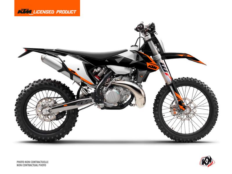 KIT DÉCO  GRAVITY MOTOCROSS KTM EXC 125 ORANGE