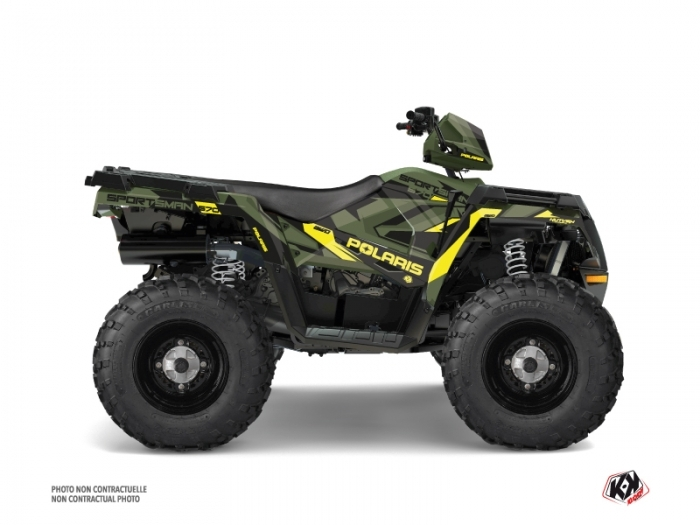 KIT DÉCO  HIDDEN   QUAD   POLARIS   SPORTSMAN 570 FOREST   VERT-JAUNE