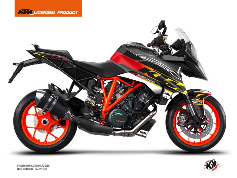 KIT DÉCO  MASS MOTO KTM SUPER DUKE 1290 GT NOIR-JAUNE