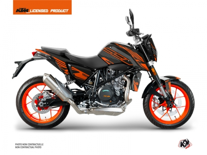 KIT DÉCO PERFORM MOTO KTM DUKE 690  ORANGE-NOIR