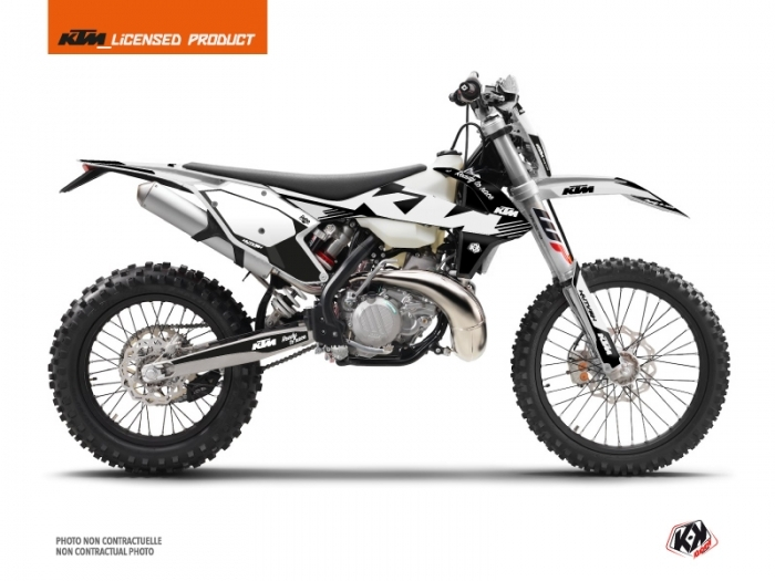KIT DÉCO  RETRO   MOTOCROSS   KTM   EXC-EXCF     NOIR