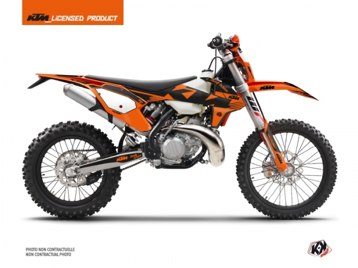 KIT DÉCO RETRO MOTOCROSS KTM EXC-EXCF   NOIR-ORANGE