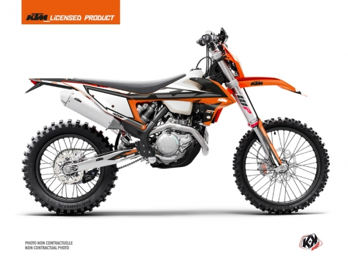 KIT DÉCO  RIFT   MOTOCROSS   KTM   EXC-EXCF     ORANGE-NOIR