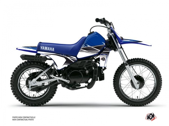 KIT DÉCO  STRIPE   MOTOCROSS   YAMAHA   PW 80    BLEU